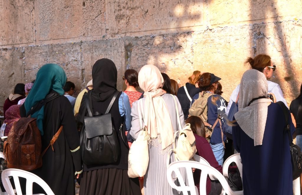 Arab women in Jerusalem Israel at Western Wall