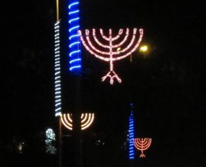 chaunkiah, street light menorah