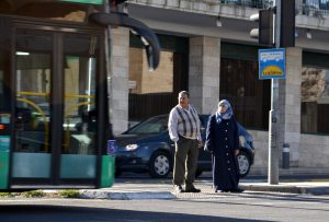 Arab man and woman in Israel
