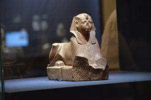 sphinx in Israel Museum exhibit on Pharaoh and Canaan