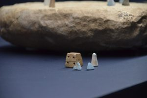 Old dice from ancient Egypt Israel Museum Pharaoh exhibit