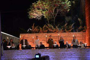 lights at Yom Shoah Yad Vashem