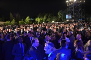 crowd at Yad Vshem for Yom Hashoah ceremony