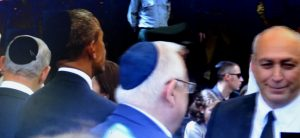 kippa on heads of president Rivlin and Obama