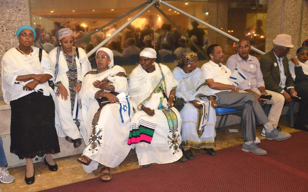 Jerusalem ICC Ethiopian Israelis in main hall