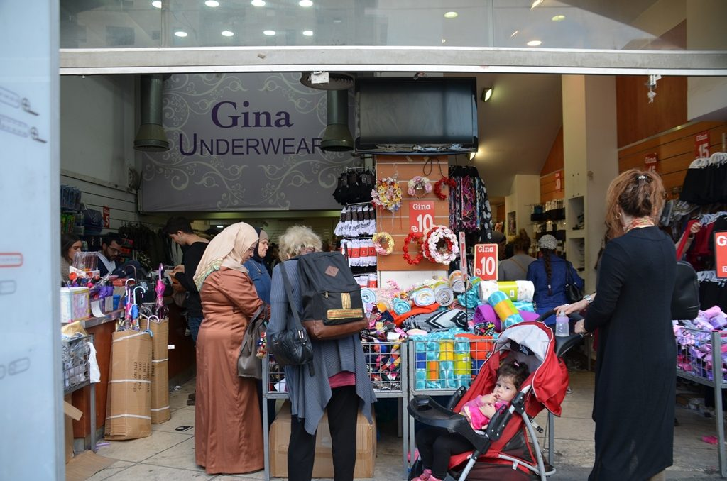 Muslim women shopping on Yaffo in Jerusalem Israel
