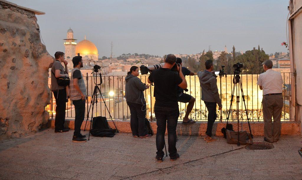 Supermoon in Jerusalem Israel