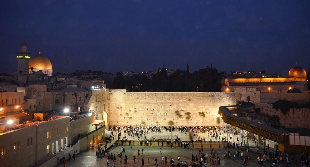 Kotel, Western Wall time for supermoon Jerusalem Israel