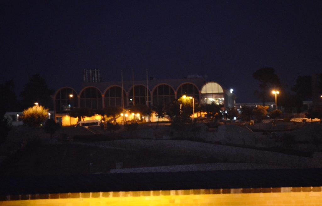 Nighttime view of Mount of Olives