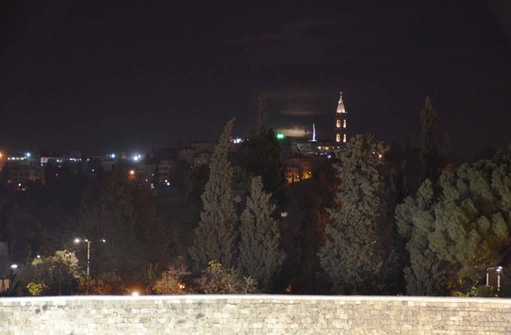 Over the Western Wall supermoon