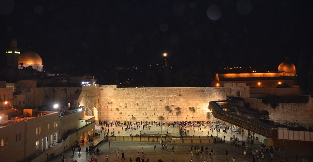 Kotel for supermoon photo Jerusalem, Israel