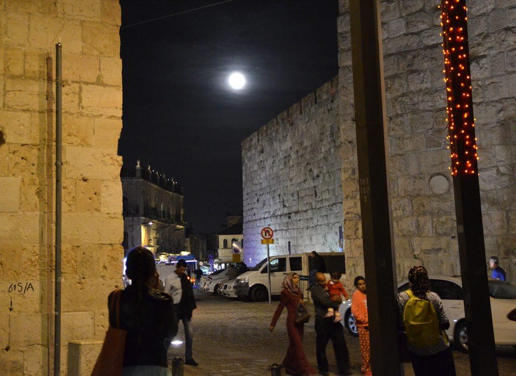 Shaer Yafo for supermoon Old City Jerusalem