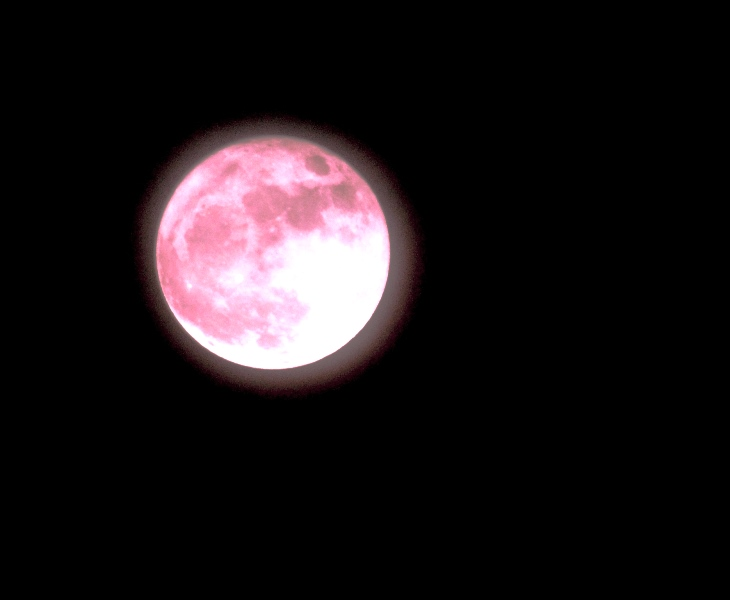 post production of supermoon to make it look pink
