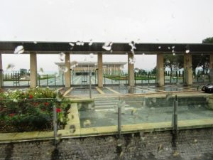 Israeli Knesset in rain