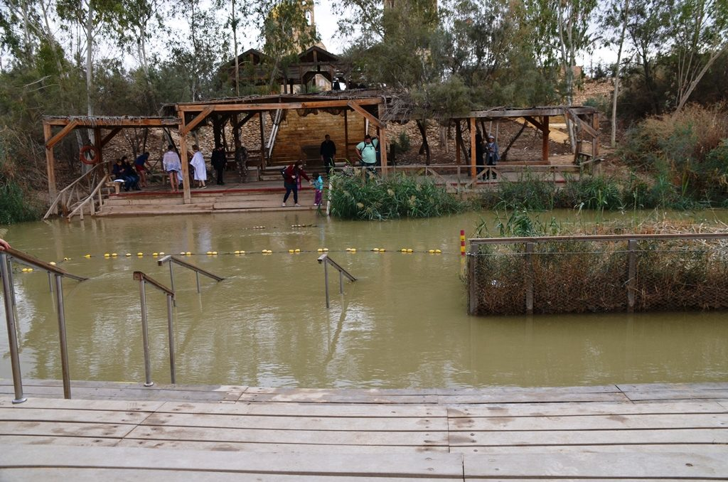 Baptism site in Jordan River Israel Jordan border