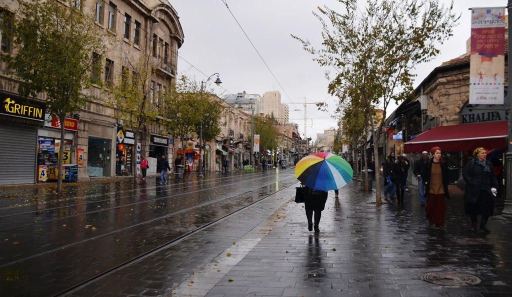 Yaffo in rain