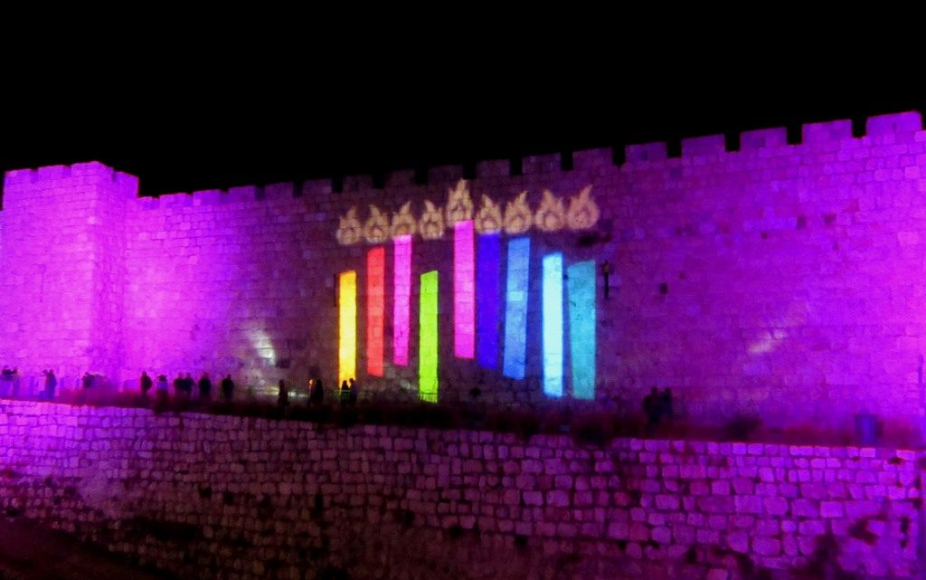 Chanukah in Jerusalem, Israel