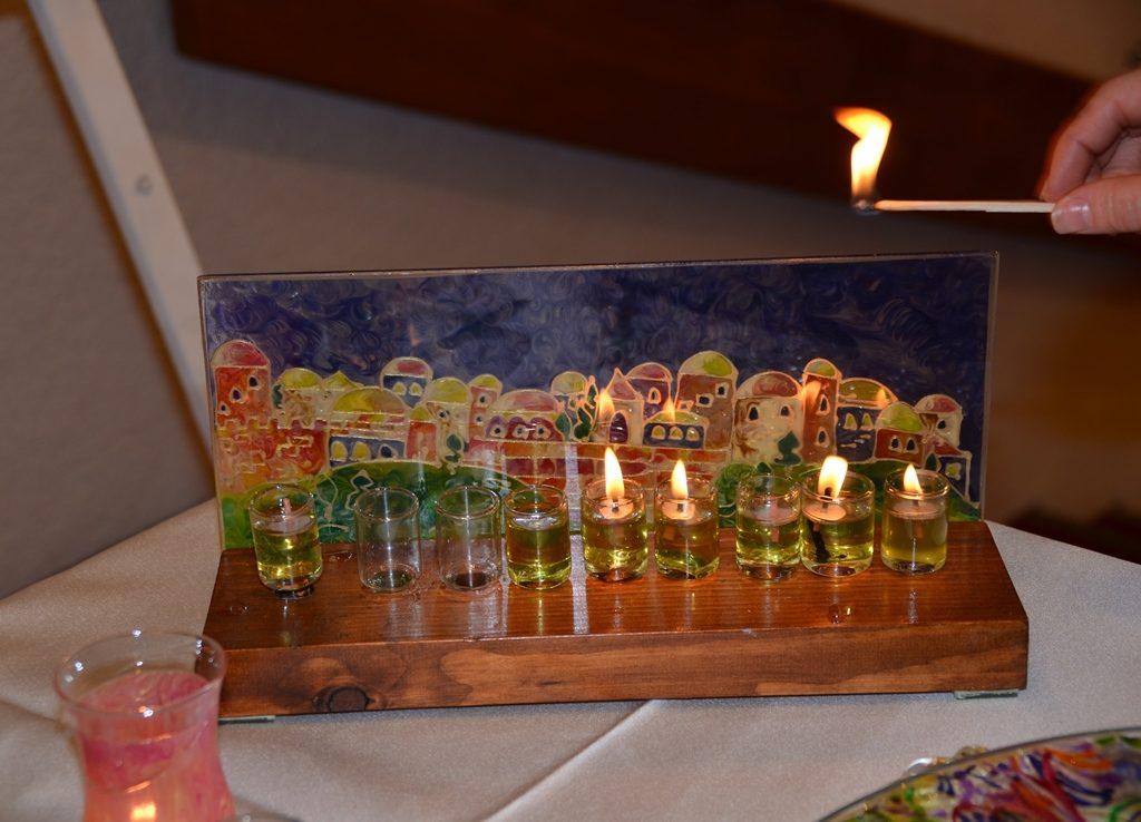 Lighting the lights of Hanukah
