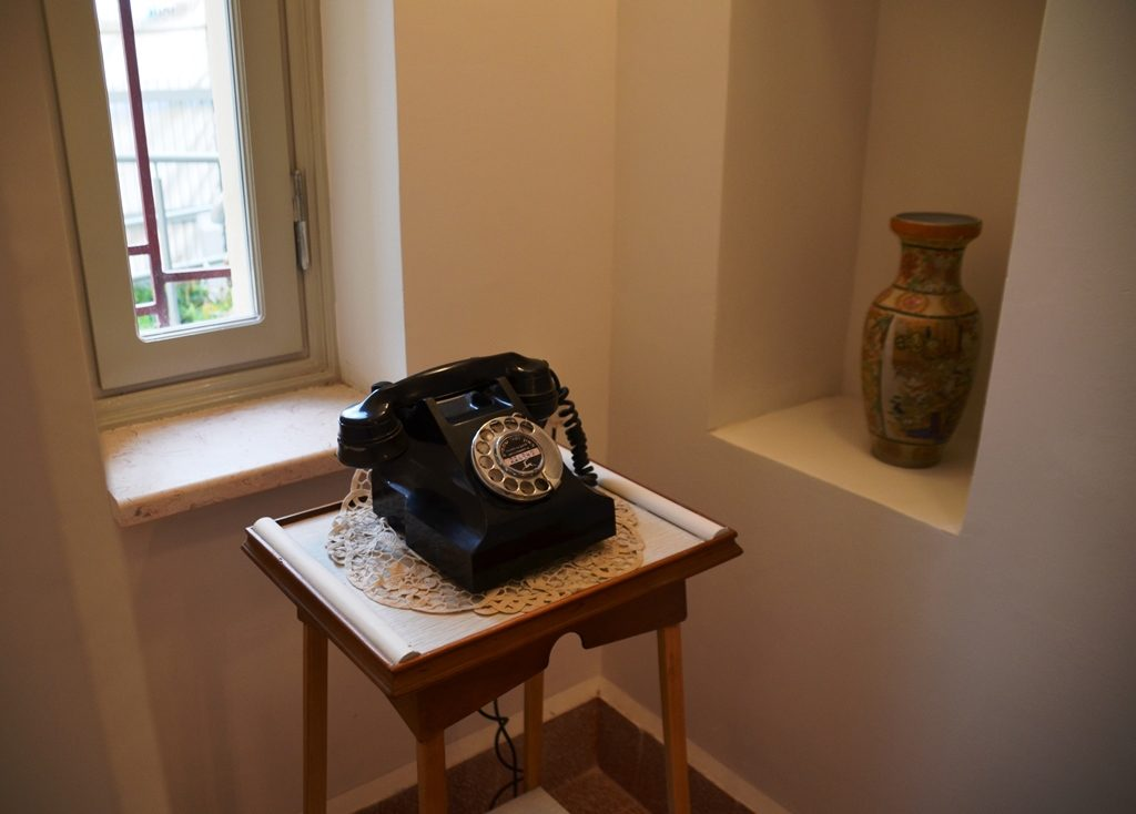 Old style phone in Levi Eshkol House
