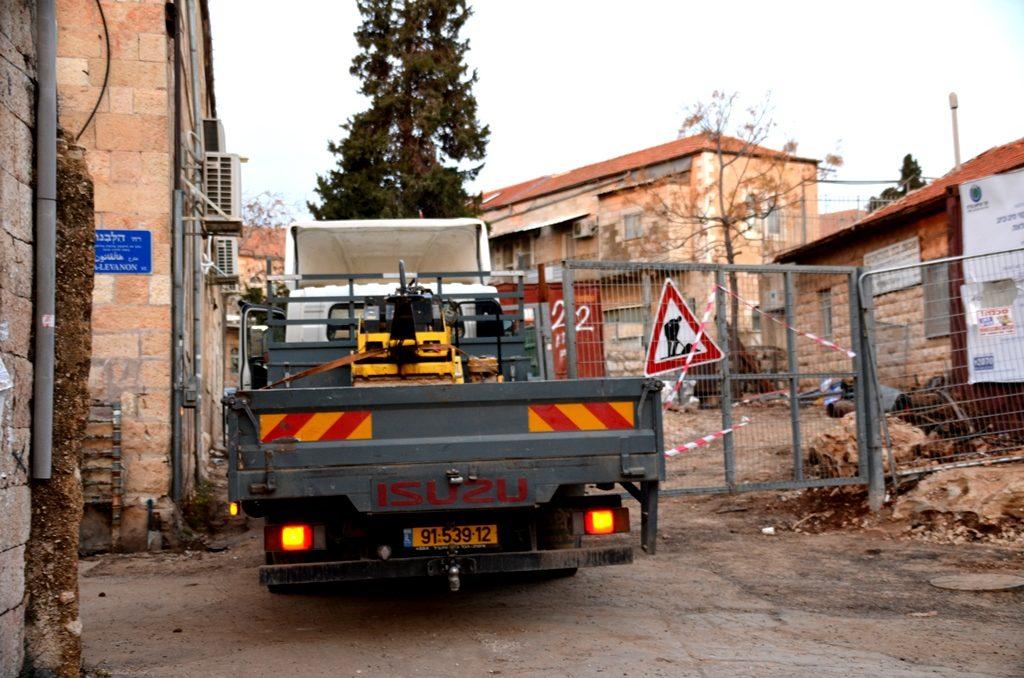 Truck in Jerusalem street