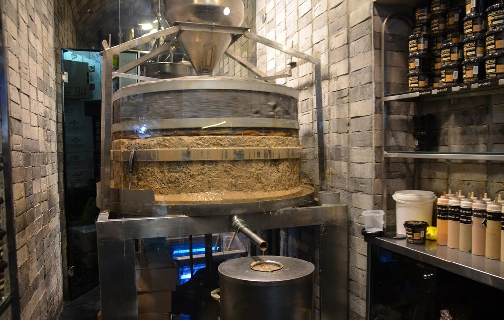 Machine to make halva in machane yehuda market