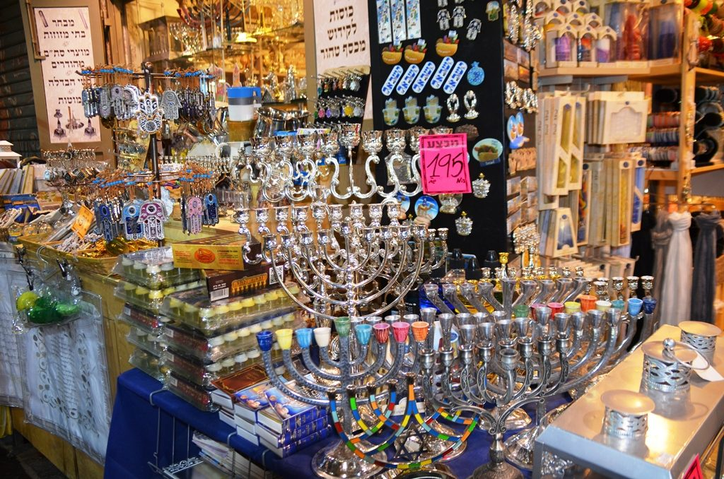 Hanukiot in Machane Yehuda Market