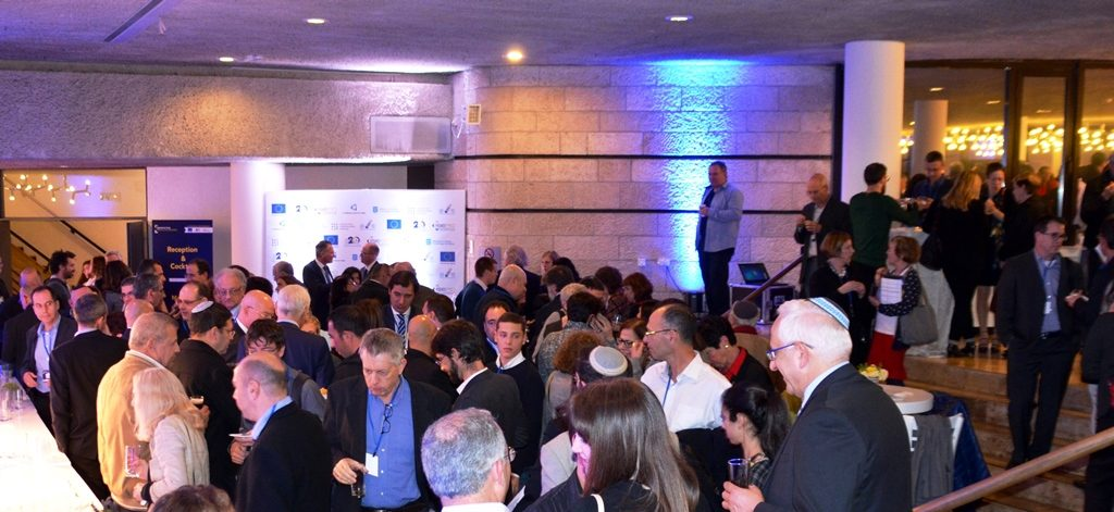 Crowd at ISERD 20th anniversary celebration at Jerusalem Theater Israel