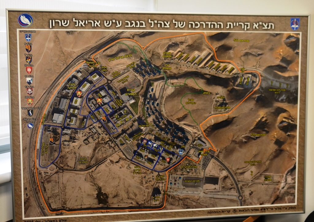 Map of Negev army training base