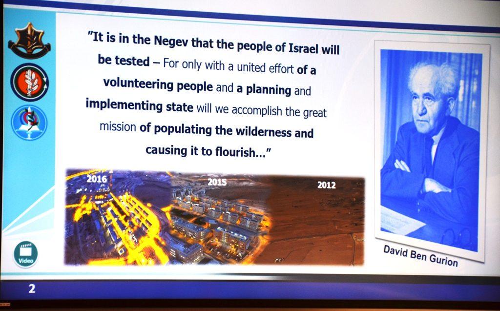 Israel Negev Ben Gurion quote