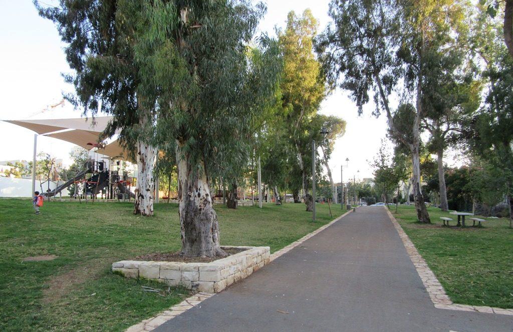 Park in Baka Jerusalem, Israel