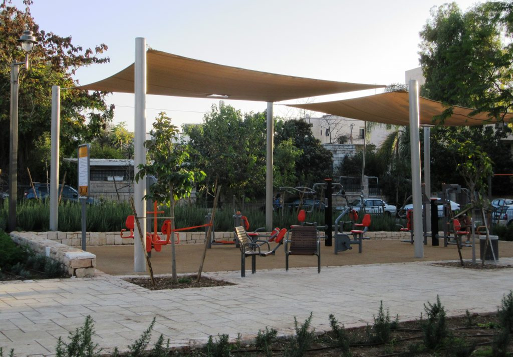 Fitness equipment in Jerusalem, Israel park