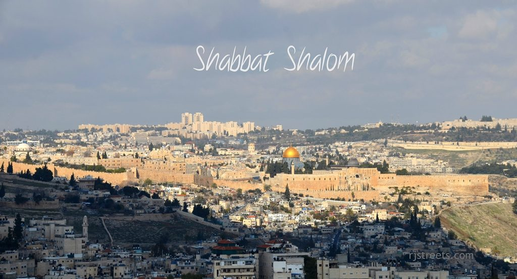 Old City Jerusalem, Israel view for Shabat shalom poster