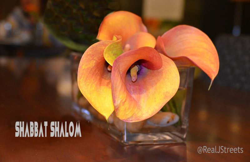 Shabbat shalom poster flower