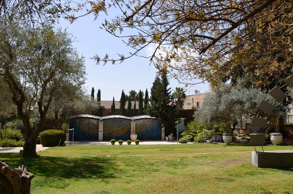 View of synagogue of Beit Hanasi Arden