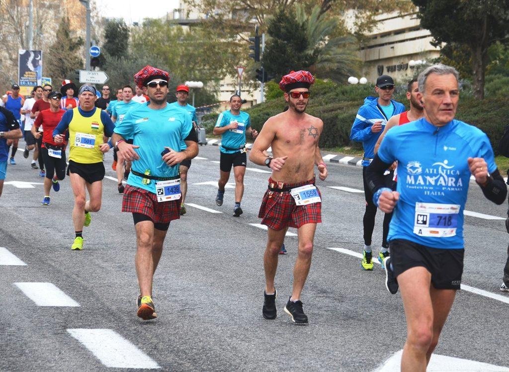 Jerusalem marathon full marathon runners