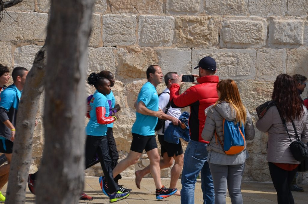 running before Jerusalem marathon