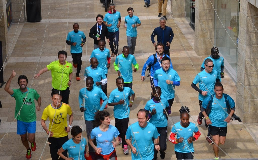 Jerusalem Marathon warm up