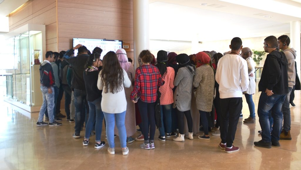 Arab students in Knesset on tour