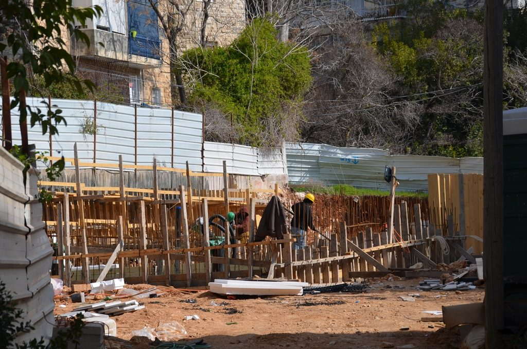Jerusalem construction site.