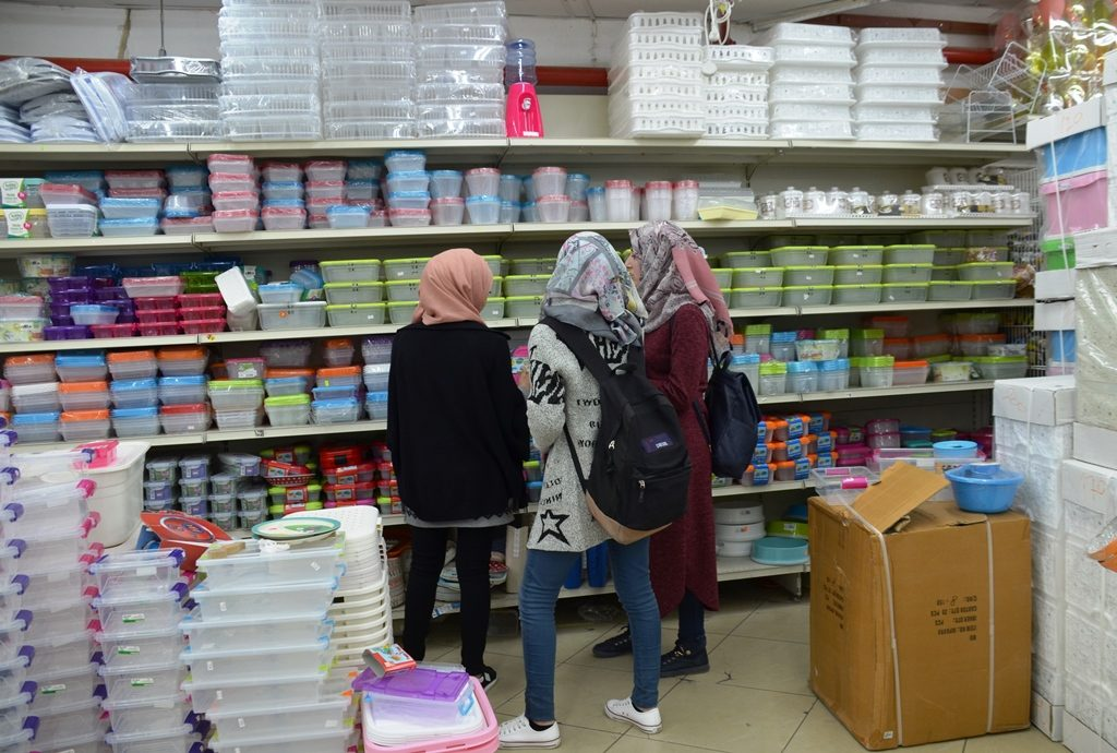 Muslim girls in Jerusalem Israel shopping