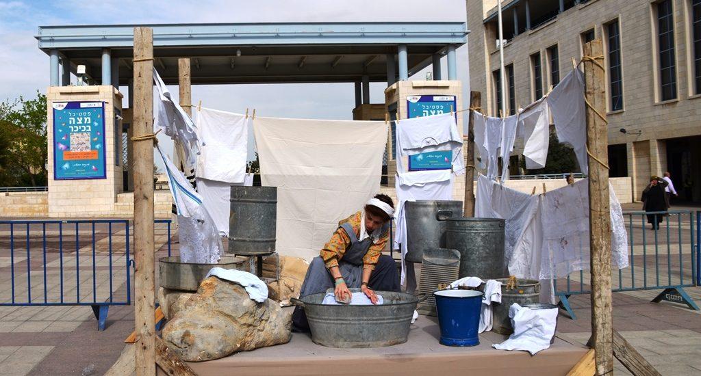 Washing clothes Jerusalem Matzah Festival