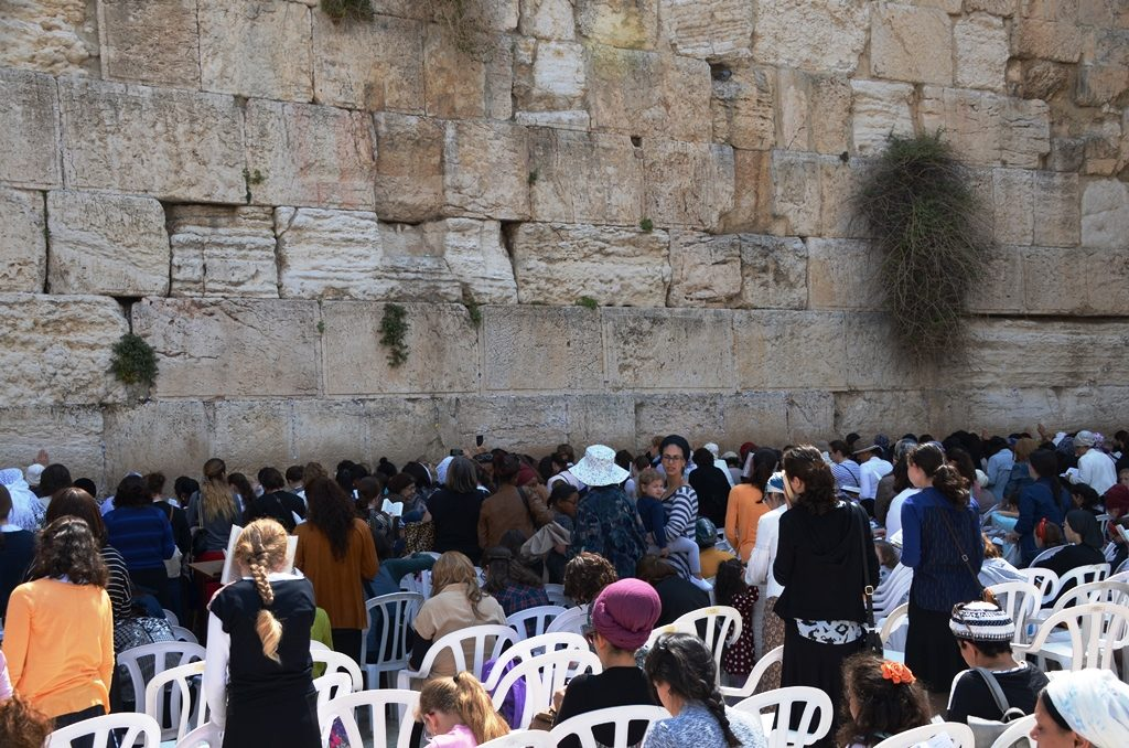 Kotel on Pesach, women's section