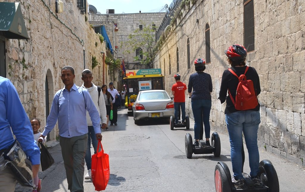 crowded street in Old City for Pesach