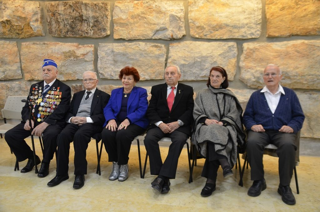 Six survivors who light flames on Yom HaShoa