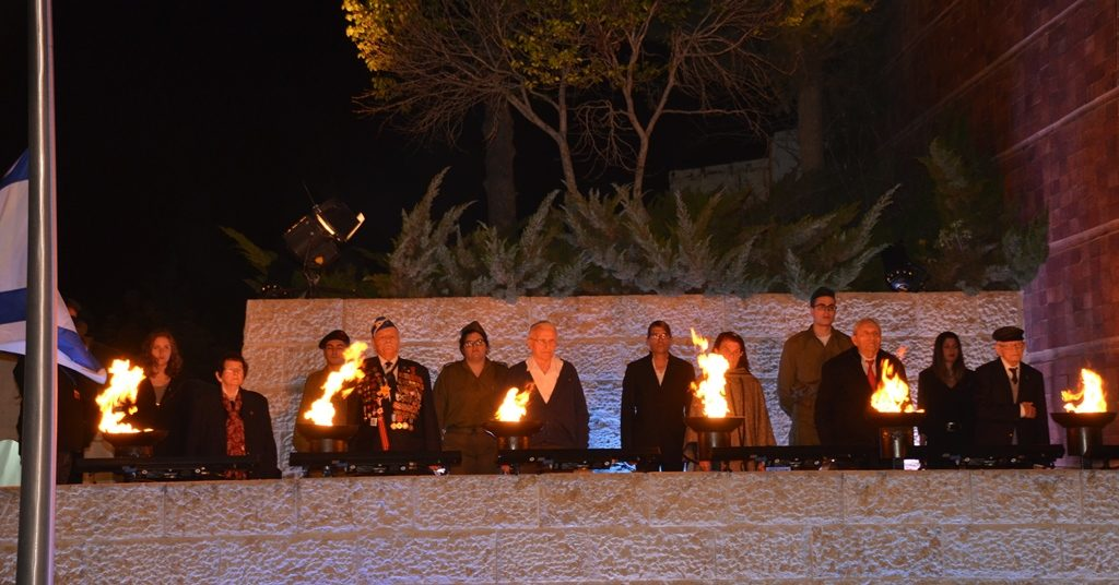 Flames and survivors on Yom Hashoah Jerusalem