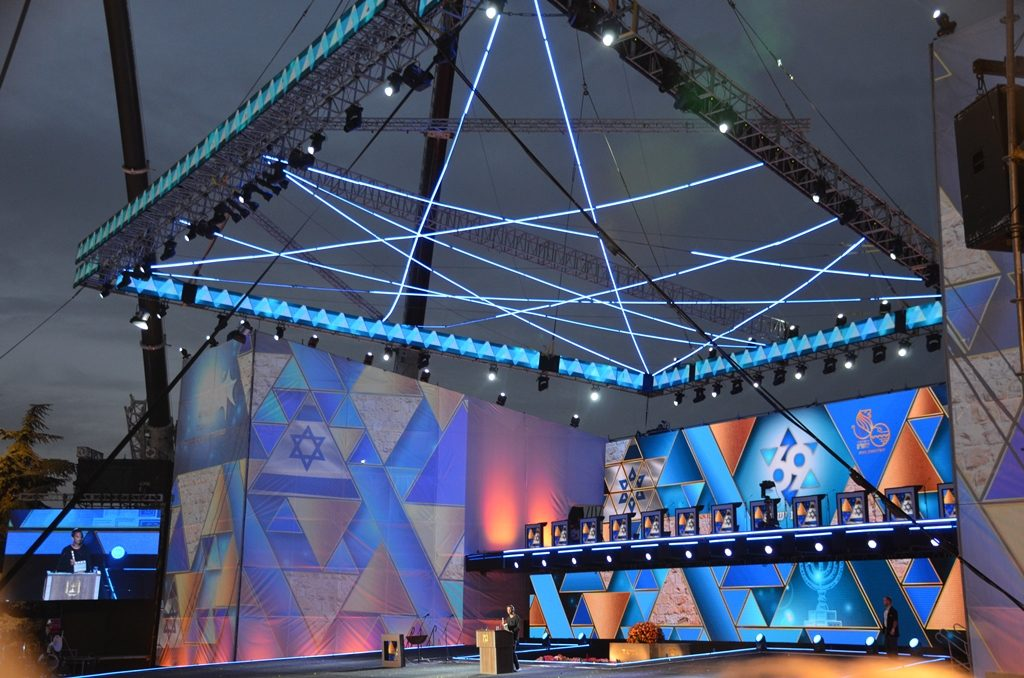 Stage ready for Yom Haaztmaut official televised program