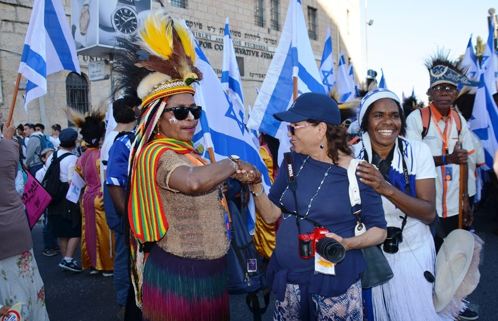 Costumes at Yom Yerushalayim from Africa