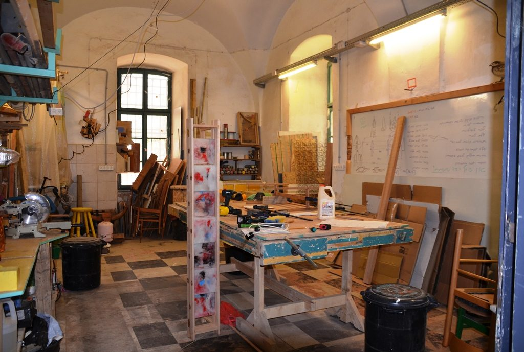 Artists work area in HaMiffal