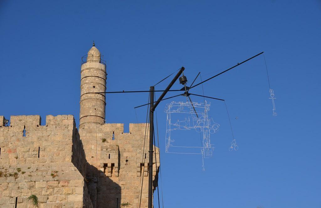 Drawn in Light Rampart Tower of David for Jerusalem Light Festival 2017