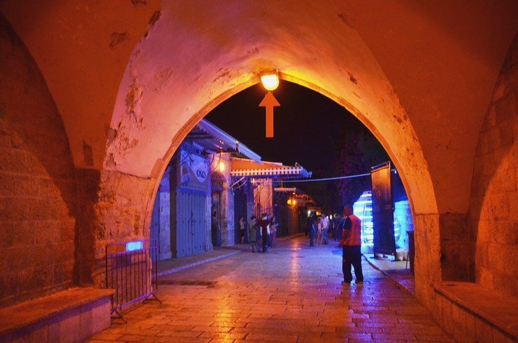 NeuorModulator entering Muristan color and music at Jerusalem light festival